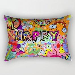 Happy Popart by Nico Bielow Rectangular Pillow