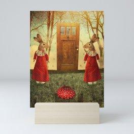 mushroom door Mini Art Print