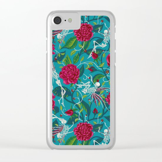 Death of Summer (carmine and blue) Clear iPhone Case