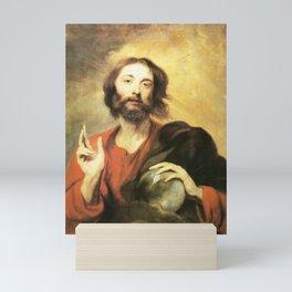 Anthony van Dyck - Christus Salvator Mundi Mini Art Print
