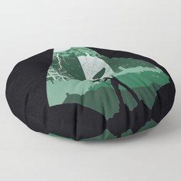 Arrow green Floor Pillow