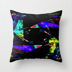 feedback pinwheel Throw Pillow