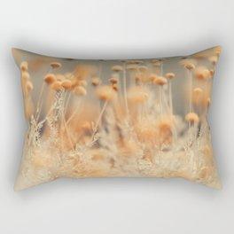 Mustard Yellow Flowers Rectangular Pillow