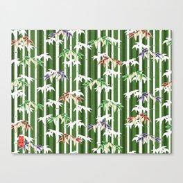 Vintage oriental Bamboo pattern Canvas Print