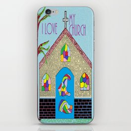 ASL I Love my Church iPhone Skin