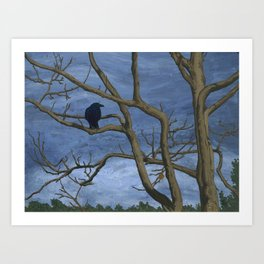 Crow Tree Art Print