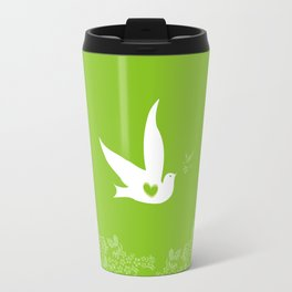 Love and Freedom - Green Travel Mug