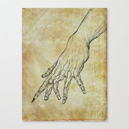 The Sixth Finger of the Writer Canvas Print