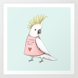 Pretty Cockatoo Art Print