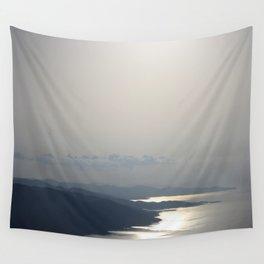 Silver Grey Hues of Gokova Bay Wall Tapestry