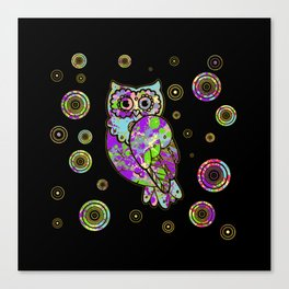 Colorful fun owl Canvas Print