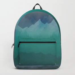 Ombre Mountainscape (Blue, Aqua) Backpack