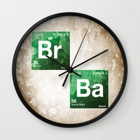 chemistry Wall Clocks featuring BrBa chemistry by Nxolab