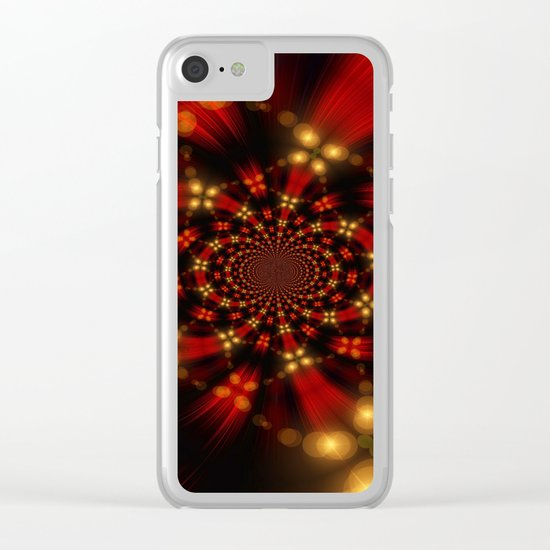 Christmas-Fractal Clear iPhone Case