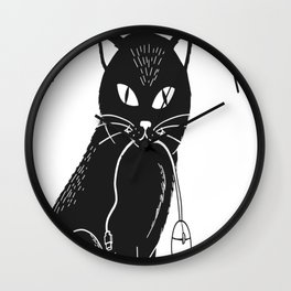 I caught the mouse Wall Clock