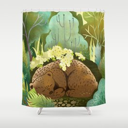 Bear Nest Shower Curtain