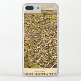 Fort Worth, Texas 1891 Clear iPhone Case