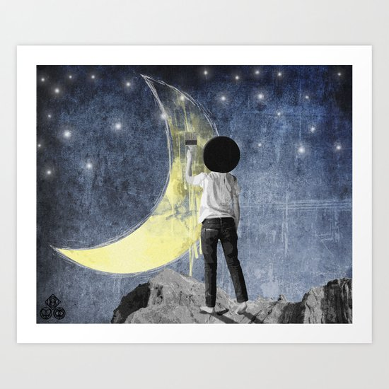 You asked me to paint you and I painted the moon Art Print