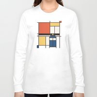 mondrian Long Sleeve T-shirts featuring Mondrian Who by Perdita