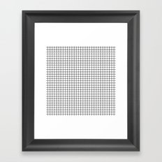 Dotted Grid Framed Art Print