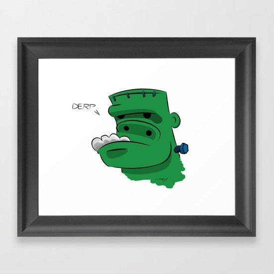 Frankenderp Framed Art Print