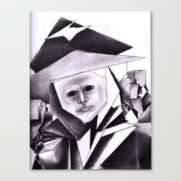 My Sweetheart In Black Canvas Print