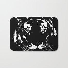 Black n white tiger Bath Mat