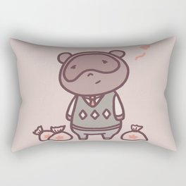 Raccoon Animal Villager | Illustration | Tom Rectangular Pillow