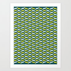 Broccoli and Cheese Mod Art Print
