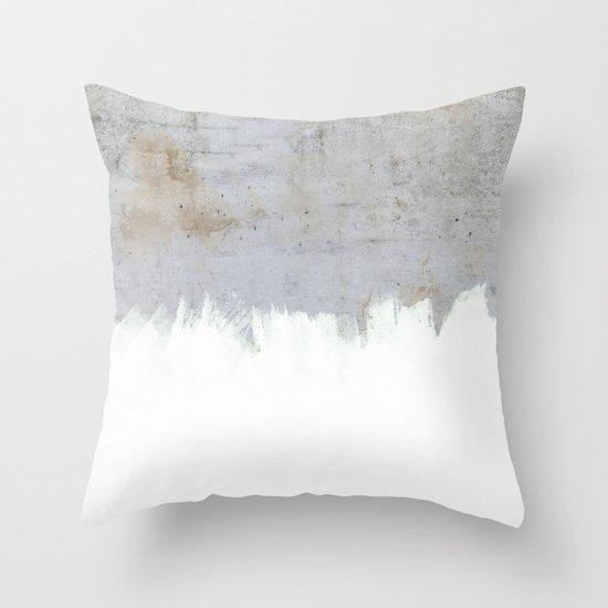 painting on raw concrete throw pillow