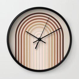 Terra Ombre Arches Wall Clock