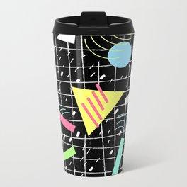 Memphis Style Vibes (Dark) Metal Travel Mug