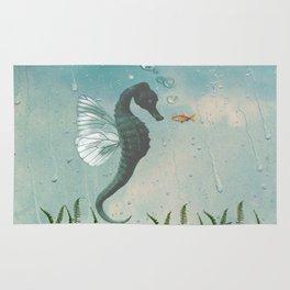 Playful seahorses Rug