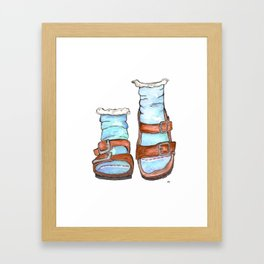 BirkenSOCKS Framed Art Print