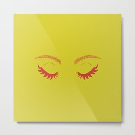 Betty Gone Batty (Red on Chartreuse Edition) Metal Print