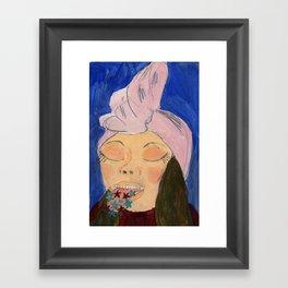Língua estrelada Framed Art Print