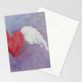 flying heart encaustic Stationery Cards