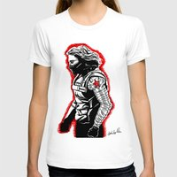 winter soldier T-shirts featuring Winter Soldier by Lydia Joy Palmer