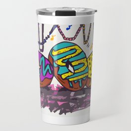 Mardi Gras Donuts Travel Mug