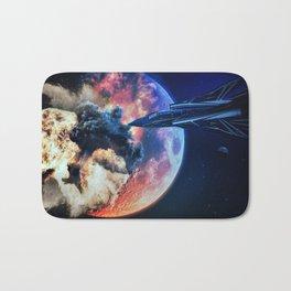 moon explosion Bath Mat