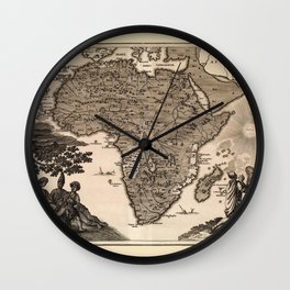 Map Of Africa 1737 Wall Clock