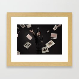 Smoking Ace Framed Art Print