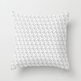 Ghost Print Happy Face for Halloween Throw Pillow