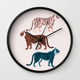 Three Tigers Wall Clock