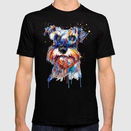 Schnauzer Head Watercolor Portrait T-shirt