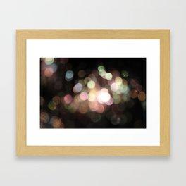 Bubbly Bokeh Framed Art Print