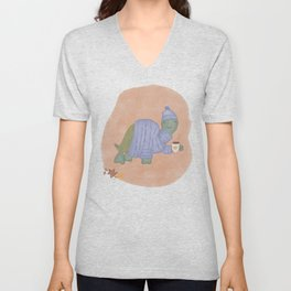Turtle in a Turtleneck / Cozy Vibes Unisex V-Neck
