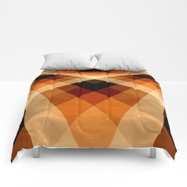 Autumn Groovy Checkerboard Comforters