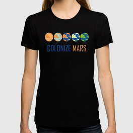 Colonize Mars Art T-shirt