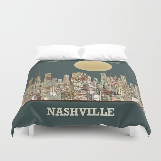 music city tennessee  Duvet Cover